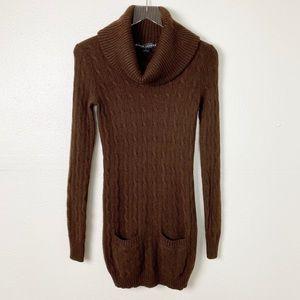 Ralph Lauren Black Label Brown Cowl Neck Sweater